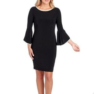 New Tiana B Black Bell Sleeve Shift Dress